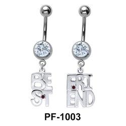 Best Friend Shaped Belly Piercing PF-1003