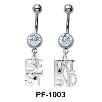Best Friend Shaped Belly Piercing PF-1003