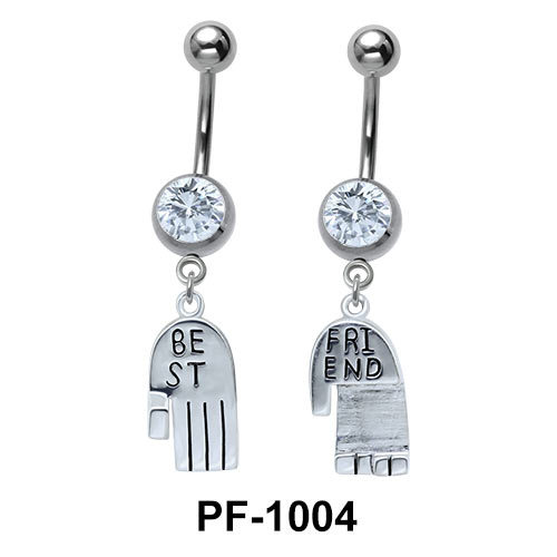 Pair of Hands Belly Button Ring PF-1004