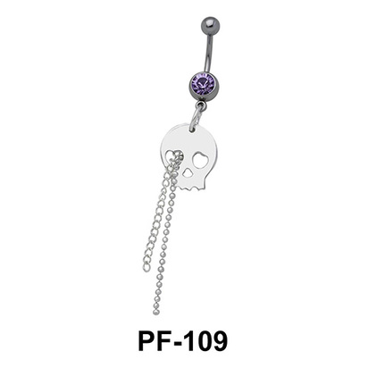 Devil mask with Chain Belly Piercing PF-109