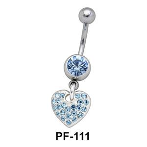 Heart Shaped Belly Piercing PF-111