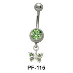 Butterfly n Stone Belly Piercing PF-115