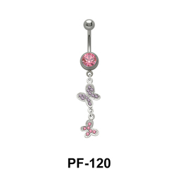 Butterfly Shaped Belly Piercing PF-120