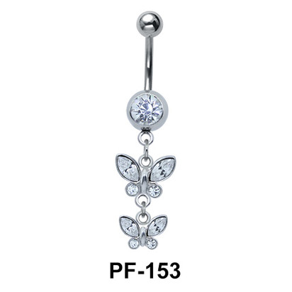 Butterfly Pair Shaped Belly Piercing PF-153