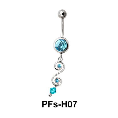Belly Piercing Dangling PFs-H07