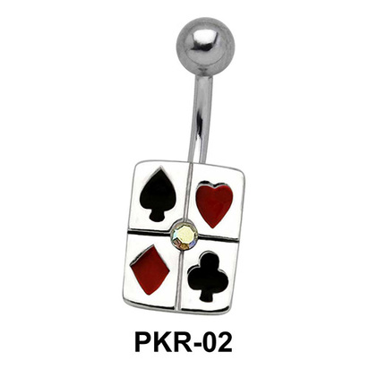 Playing Cards Designed Belly Piercing PKR-02
