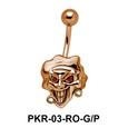 Smiling Evil Face Belly Piercing PKR-03