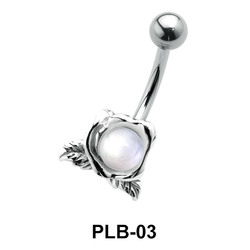 Flower Belly Pearl Piercing PLB-03