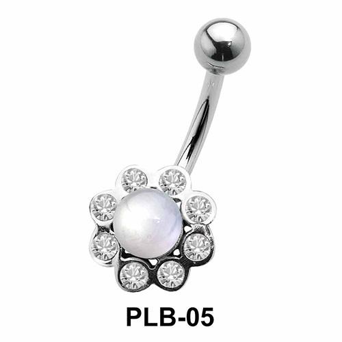 Stone n Pearl Set Belly Pearls PLB-05