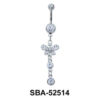 Butterfly Shaped Belly Piercing SBA-52514
