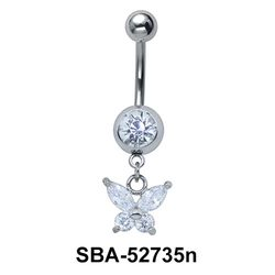 Belly Piercing with Butterfly SBA-52735n