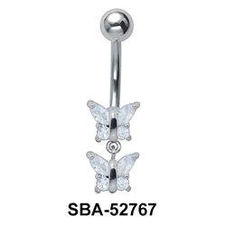 Multi Stone Pair of Butterflies SBA-52767