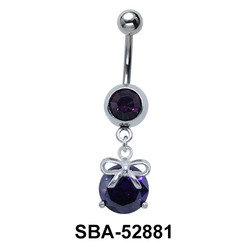 Belly Piercing with Bow on Ball SBA-52881
