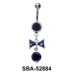 Bow Shaped Belly Piercing SBA-52884