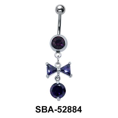 Bow Shaped Belly Piercing SBA-52884
