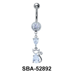 Kitty Shaped Belly Piercing SBA-52892