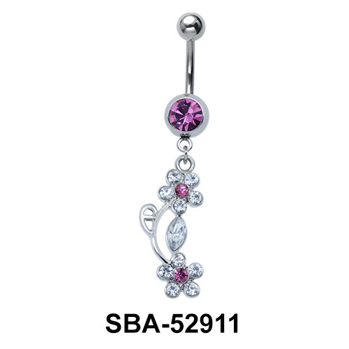 Flowers Shaped Belly Piercing SBA-52911