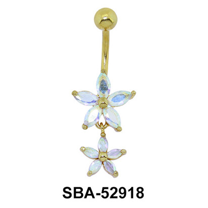 Lily Shaped Belly Piercing SBA-52918