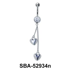 Hearts Shaped Belly Piercing SBA-52934n