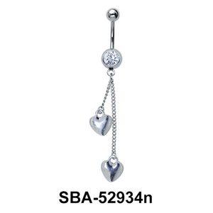 Hearts Shaped Belly Piercing SBA-52934n