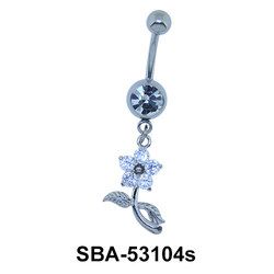 Flower Shaped Belly Piercing SBA-53104s