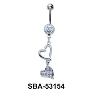 Hearts Shaped Belly Piercing SBA-53154