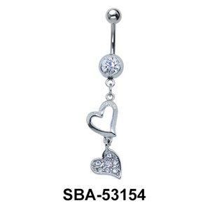 Hearts Shaped Belly Piercing SBA-53154