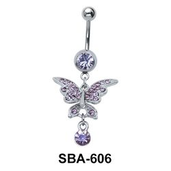 Butterfly Shaped Belly Piercing SBA-606