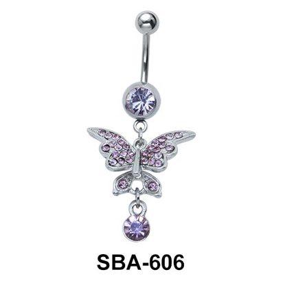 Butterfly Shaped Belly Piercing SBA-606