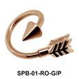 Bent Arrow Belly Closure Rings SPB-01