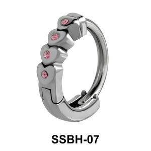 Stone Studded Hearts Belly Huggie SSBH-07