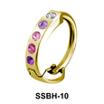 Multiple Stones Set Belly Piercing SSBH-10