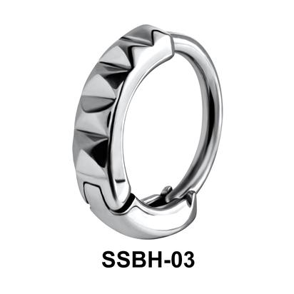 Wavy Ring Belly Huggie SSBH-03