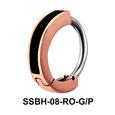 Black Enameled Belly Huggies Piercing SSBH-08