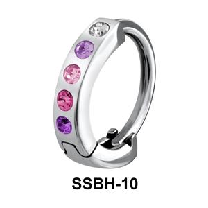 Multiple Stones Set Belly Piercing SSBH-10