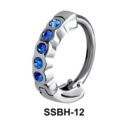 Stone Encrusted Belly Huggie SSBH-12