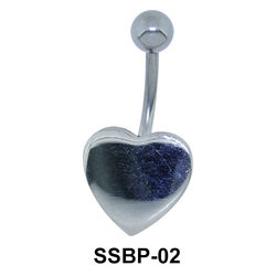 Stone Set Heart Belly Piercing SSBP-02