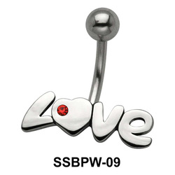 LOVE Shiny Belly Piercing SSBPW-09