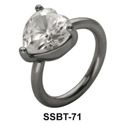 Heart Shaped Belly Piercing SSBT-71