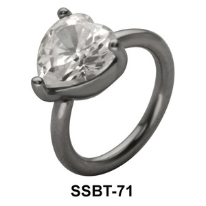 Heart Shaped Belly Piercing SSBT-71