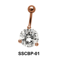 Round Brilliant Belly CZ Crystal SSCBP-01