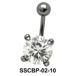 Prong Set Round Brilliant Belly CZ Crystal SSCBP-02