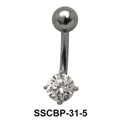 Prong Set Round Brilliant Belly CZ Crystal SSCBP-31-5