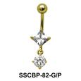 Diamond n Round Belly CZ Crystal SSCBP-82