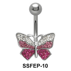 Butterfly with Rhinestone Belly Piercing SSFEP-10