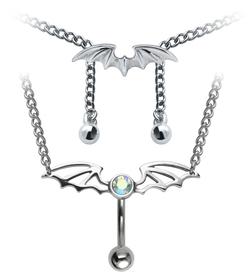 Wing Shape Belly Piercing Chain SSUBBP-02
