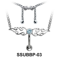 Belly Piercing Chain SSUBBP-03