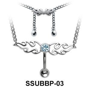 Belly Piercing Chain SSUBBP-03