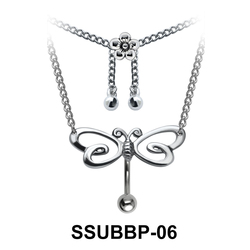 Butterfly with Flower Shaped SSUBBP-06