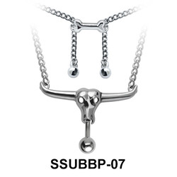 Animal Skull Belly Closure Rings Chain SSUBBP-07
